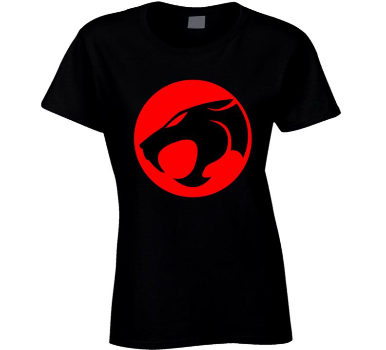 Thundercats  Logo Tv Show  Thunder Cats Retro Top Ladies T Shirt