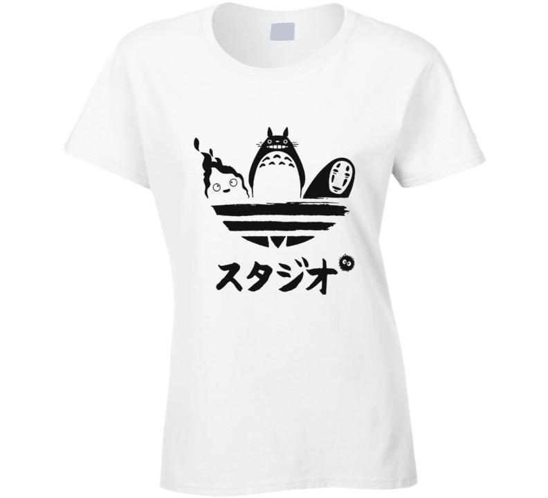 Studio Ghibli Toroto Hayao Miyazaki Anime Ladies T Shirt