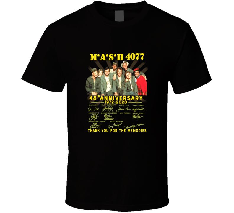 Mash 4077 48th Anniversary 1972 2020 Thank You Signatures T Shirt