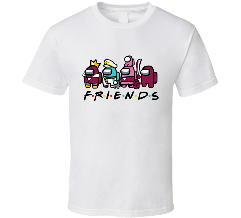 Among Us Friends Funny Game Christmas Movie Lover Xmas Gifts T Shirt