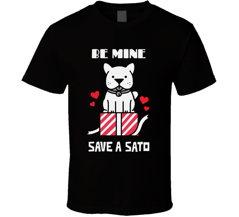 Save A Sato Puerto Rico Valentines Day T Shirt