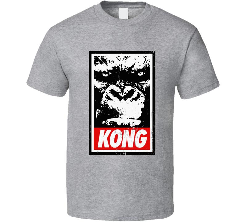 Kong Poster Kingkong Vs Godzilla  T Shirt
