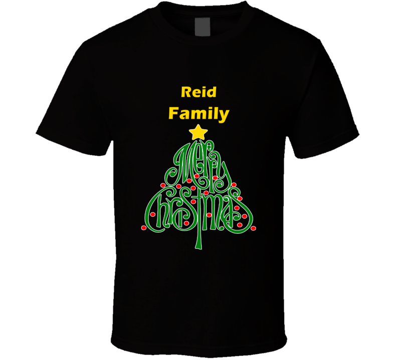Reid Family Merry Christmas T shirt