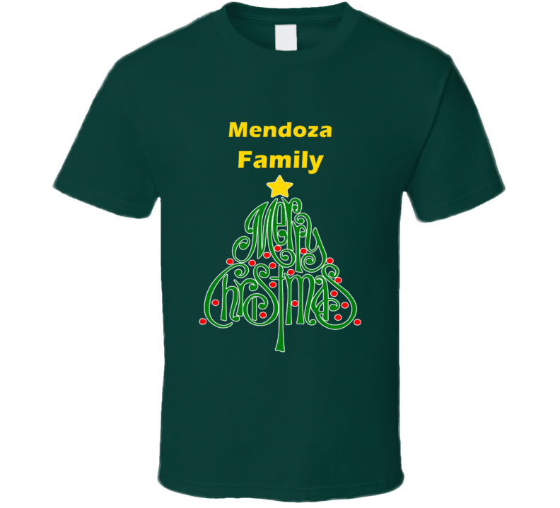 Mendoza Family Merry Christmas T shirt