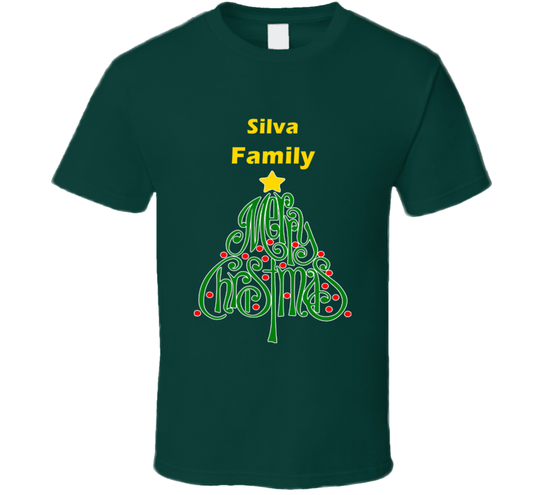 Silva Family Merry Christmas T shirt