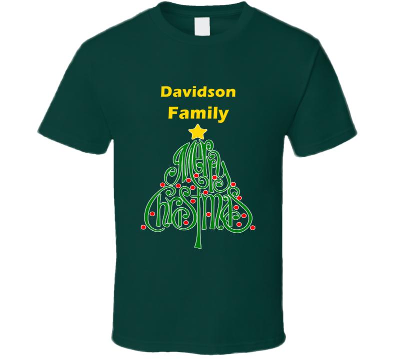Davidson Family Merry Christmas T shirt