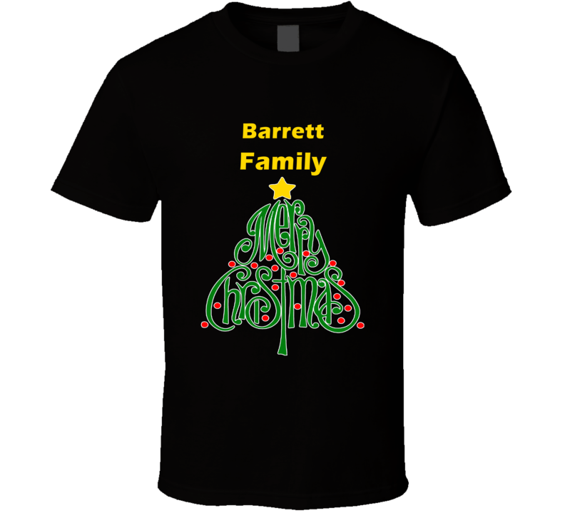 Barrett Family Merry Christmas T shirt