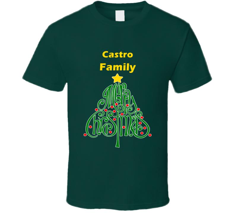 Castro Family Merry Christmas T shirt