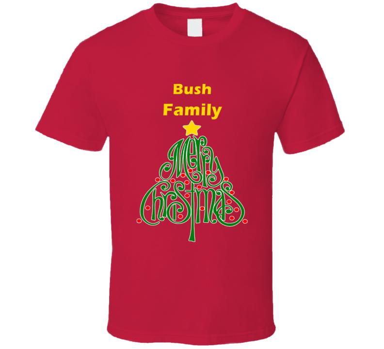 Bush Family Merry Christmas T shirt