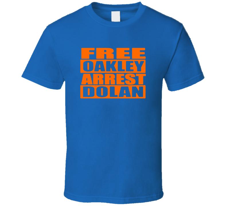 Free Charles Oakley Arrest Dolan  Trending  T Shirt