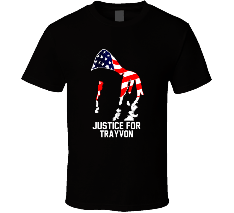 Justice For Trayvon Martin American Flag Trending T Shirt