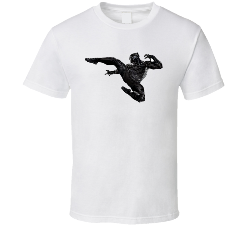 Chadwick Boseman Black Panther Movie Cool Super Hero T Shirt