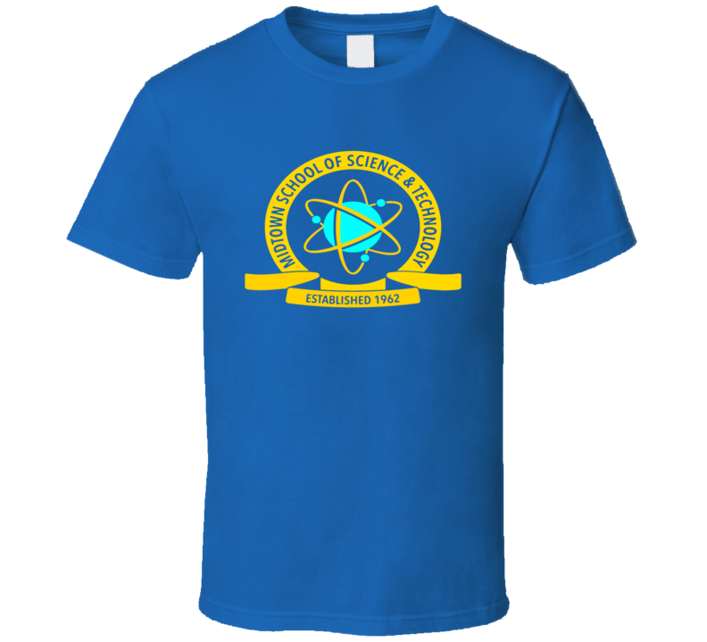 Spiderman Home Coming School Of Science And Technology Logo T Shirt