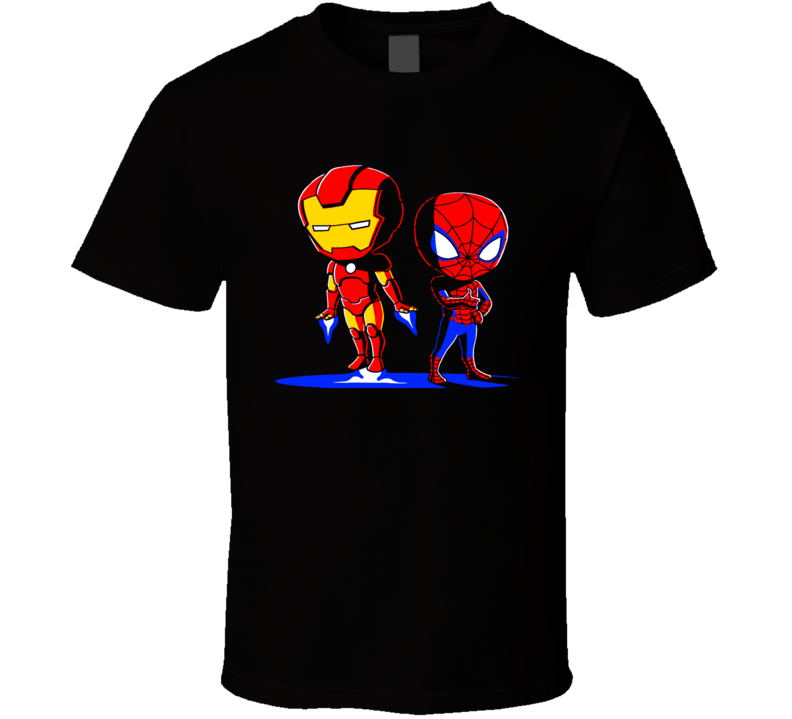 Spiderman Home Coming Movie Iron Man And Spiderman Cute T Shirt