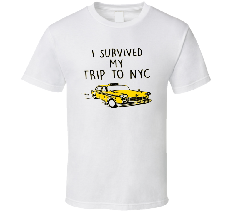 Spiderman Home Coming I Survived My Trip To Nyc Movie Trending T Shirt