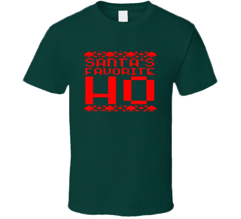 Santa Favourite Ho Santa Claus Christmas Funny Cool Unisex T Shirt