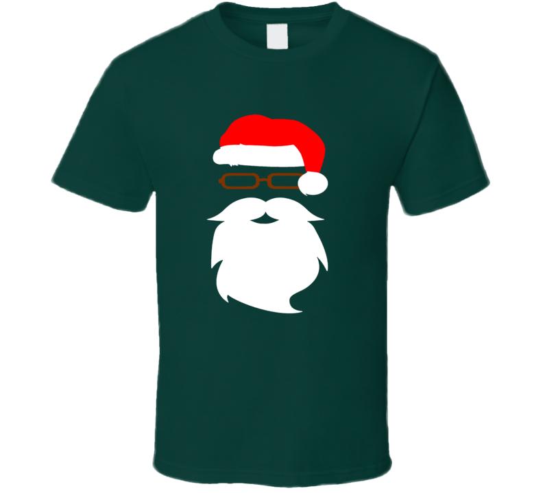 Santa Claus Face Santa Claus Hat Christmas Popular T Shirt