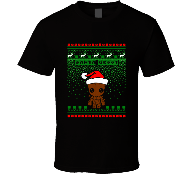 Santa Groot Merry Christmas Cute Baby Groot Popular T Shirt