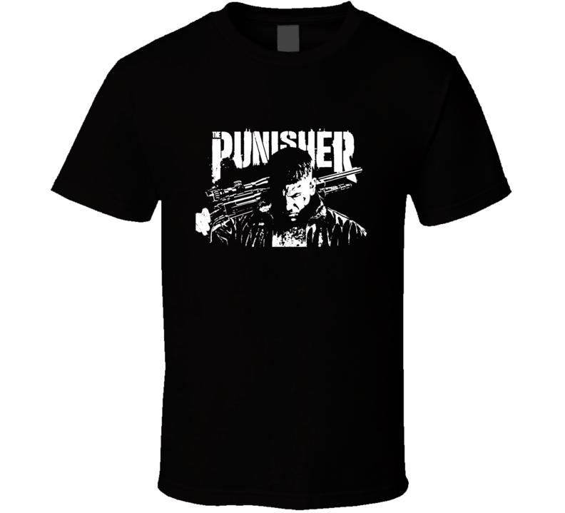 Netflix Marvel The Punisher Tv Series Marvel Super Hero T Shirt