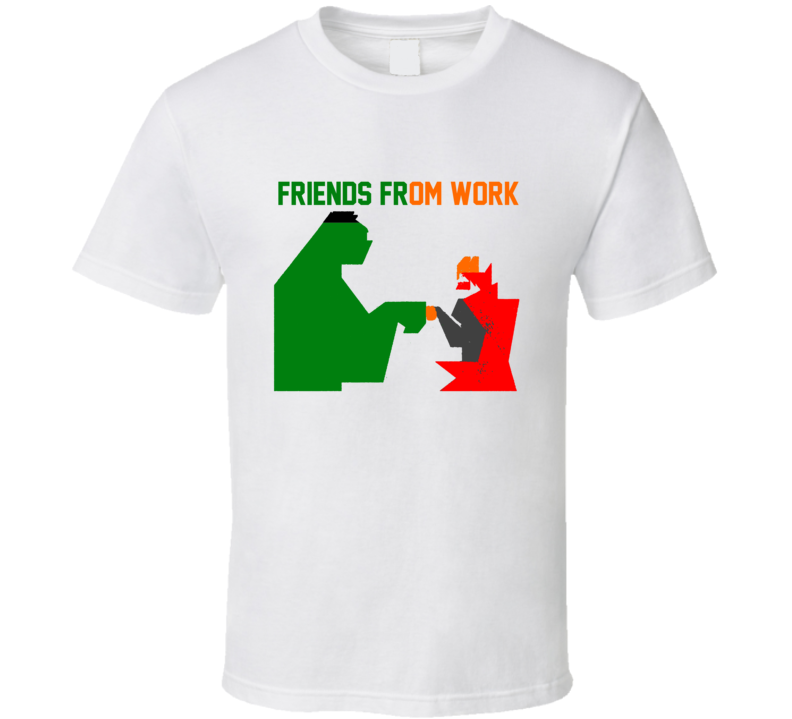Hulk And Thor Friends From Work Funny Thor Ragnarok Moment  Marvel Movie T Shirt