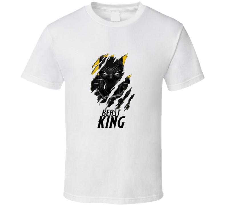 Cool Black Panther Movie Beast King Superhero Movie Fan T Shirt