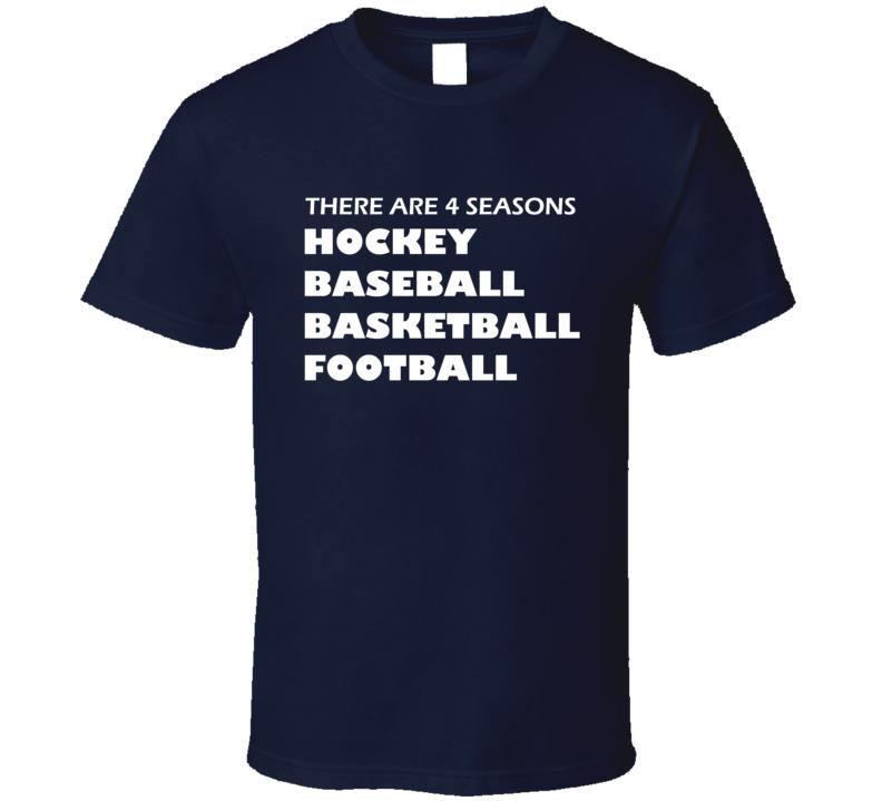 There Are Four Seasons Hockey Baseball Basketball Football Fan T Shirt