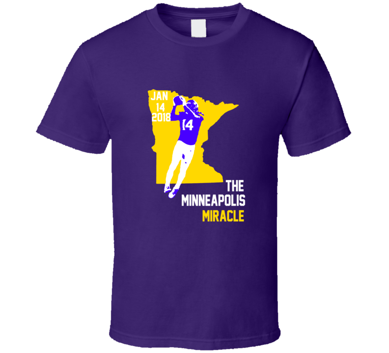 Stefon Diggs The Minneapolis Miracle Minnesota Football Team T Shirt