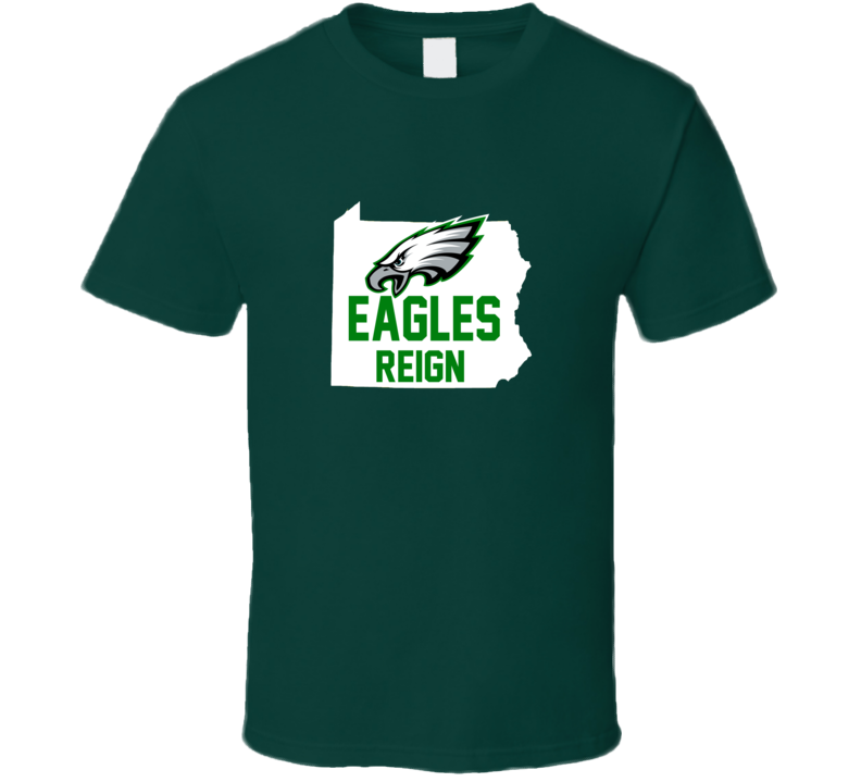 Philadelphia Eagles Reign Conference Championship Eagles Football Fan T Shirt