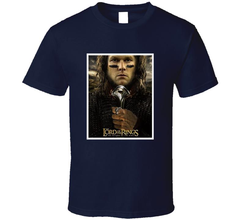 Tom Brady Lord Of The Rings Movie Parody Patriots Football Fan T Shirt
