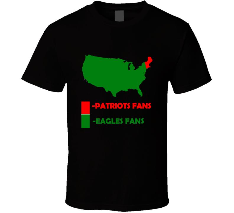 Eagles Vs Patriots Football Super Bowl Eagles Fan New England Fan Football T Shirt