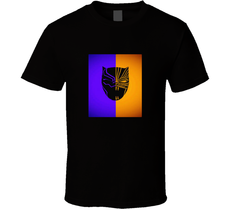 Golden Jaguar Vs Black Panther Mask Mash Up Black Panther Movie Fan T Shirt