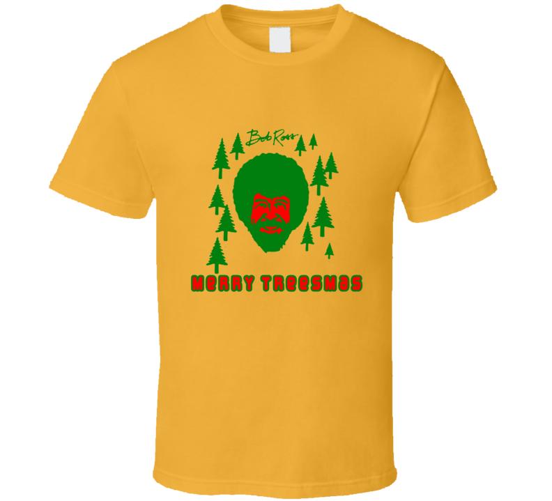Bob Ross Pot Head Merry Treesmas Christmas Stoners T Shirt