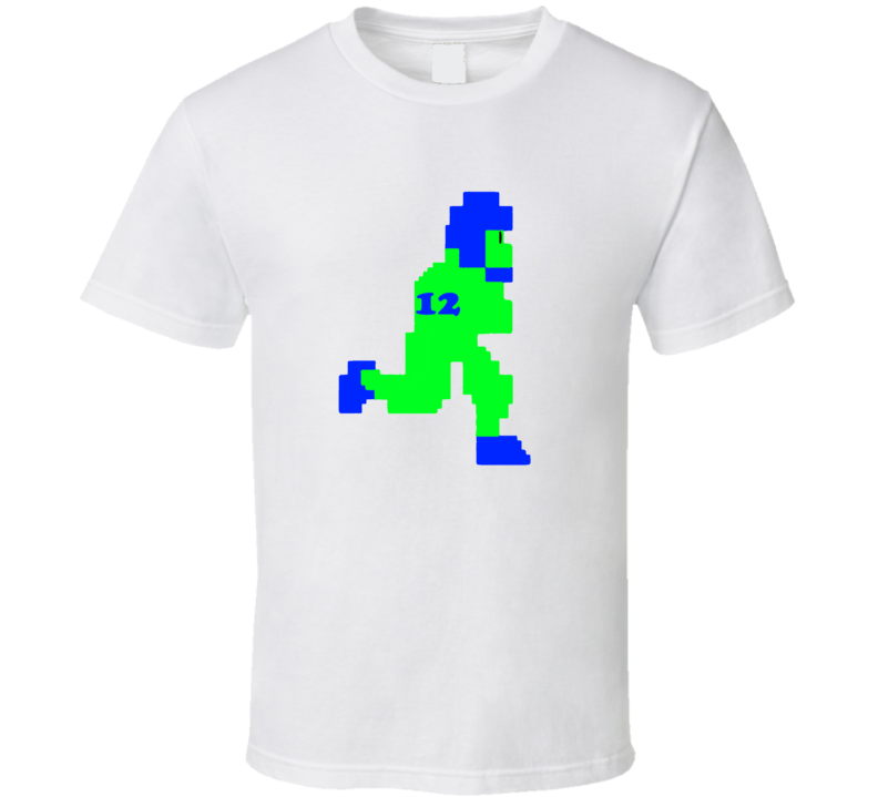 Russel Wilson Number 12 Seahawks Quarterback Football Player T Shirt