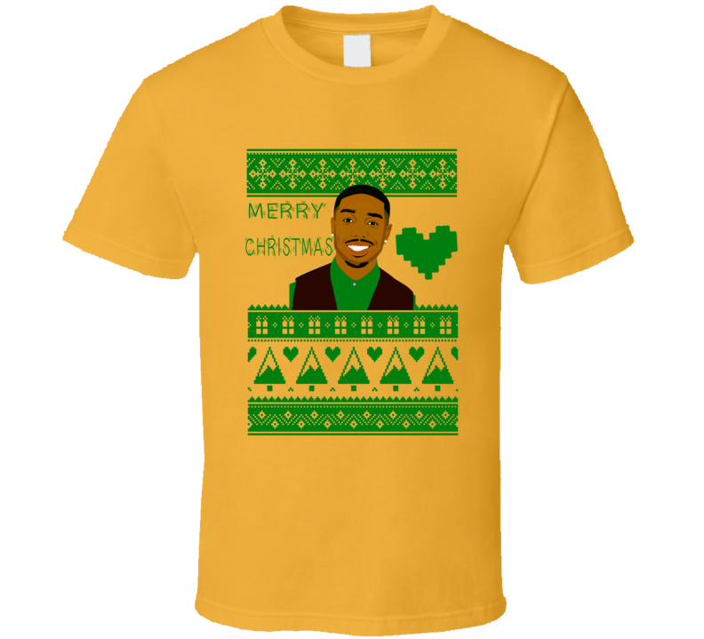 Michael B Jordan Actor Merry Christmas Ugly Sweater Design T Shirt