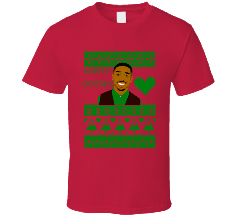 Michael B Jordan Actor Merry Christmas Ugly Sweater Design T Shirt