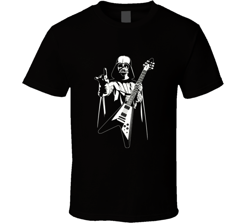 Darth Vader Playing Gibson Guitar Funny Movie T Shirt