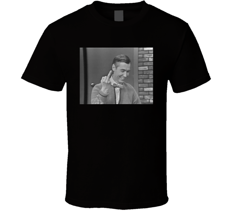 Mr. Rogers Middle Finger Funny T Shirt