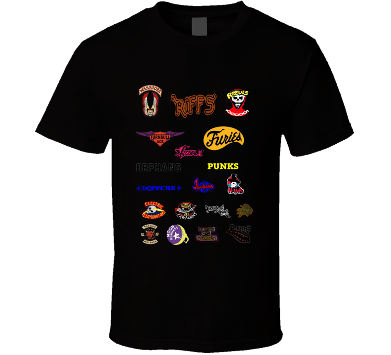 The Warriors Movie Gang Logos Movie T Shirt