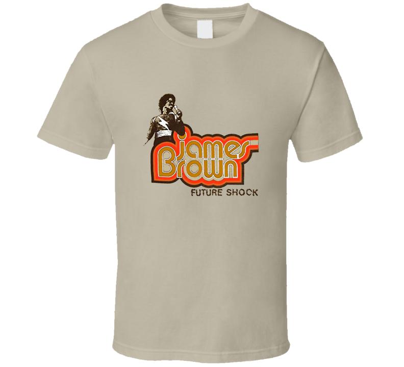 James Brown Future Shock 1970's Retro TV Show T Shirt