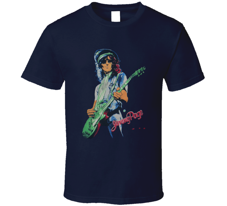 Jimmy Page 1977 Retro Music T Shirt