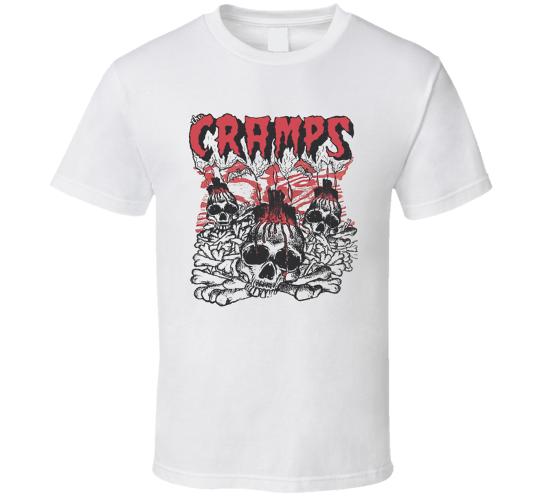 The Cramps Retro Skulls T Shirt
