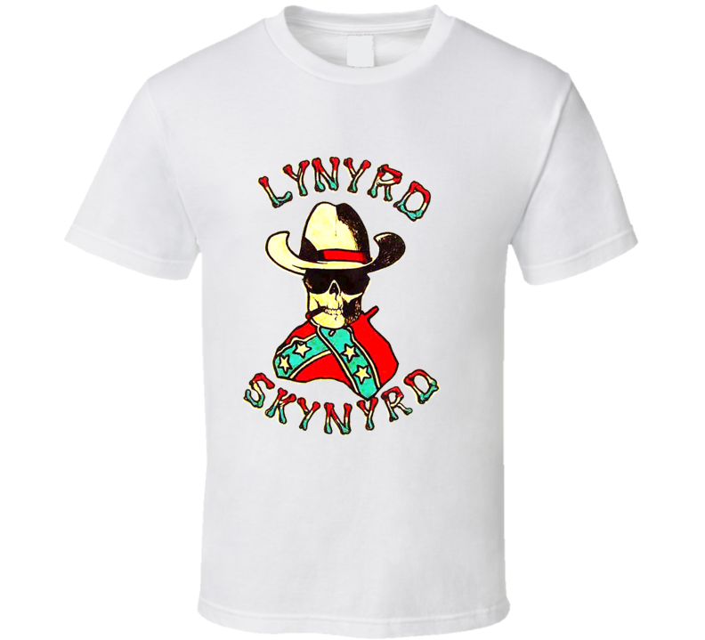 Lynyrd Skynyrd Confederate Flag Retro Music T Shirt