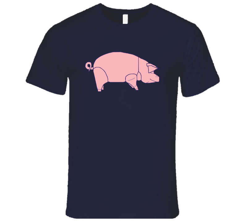 Pink Floyd Animals Tour Pig David Gilmour Retro Classic Music Navy Blue T Shirt