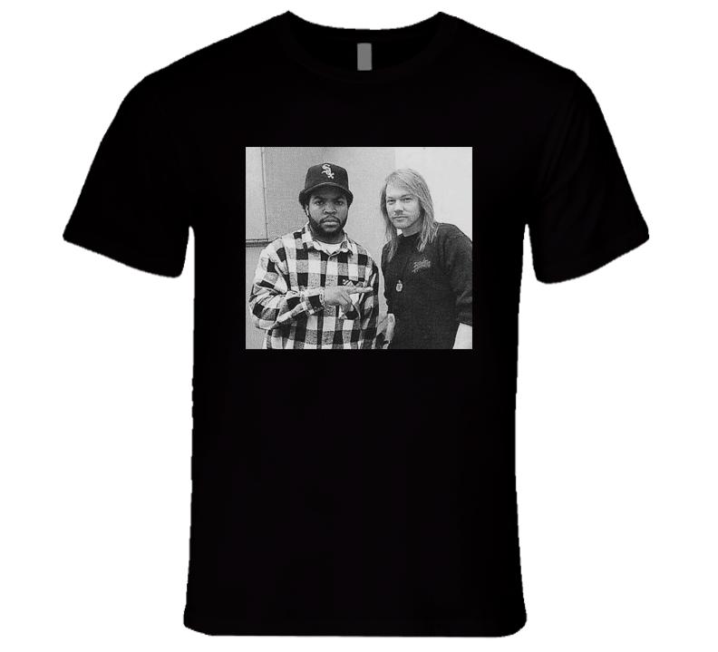 Ice Cube Axl Rose Hip Hop Rock 90's Music T Shirt