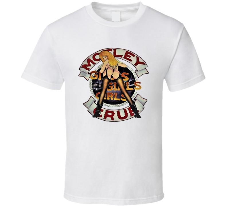Motley Crue Girls Girls Girls Tour Retro Classic Rock Music T Shirt