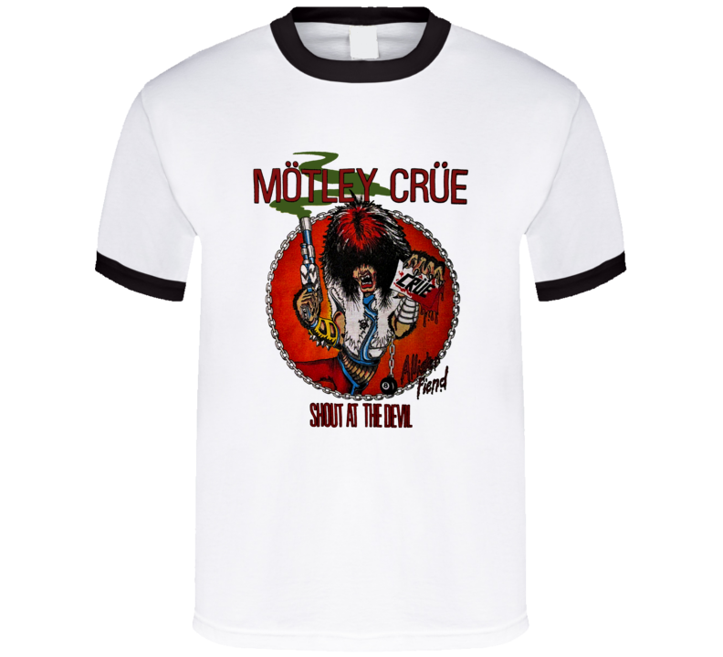 Motley Crue Shout At The Devil Tour Allister Fiend Classic Rock Retro Music T Shirt