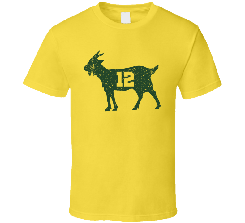 Aaron Rodgers GOAT Greatest of all Time Green Bay Football Fan T Shirt