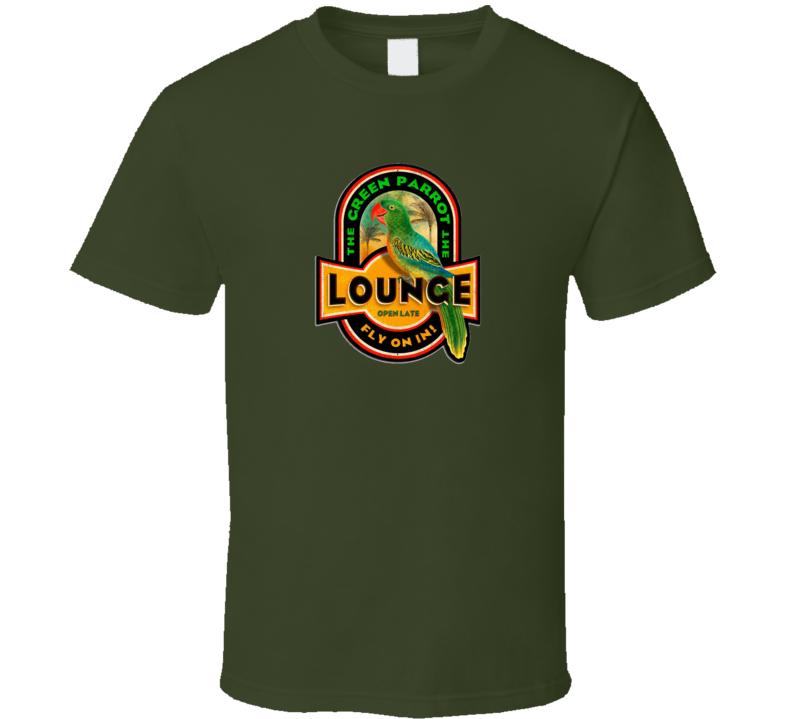 Green Parrot Lounge T Shirt