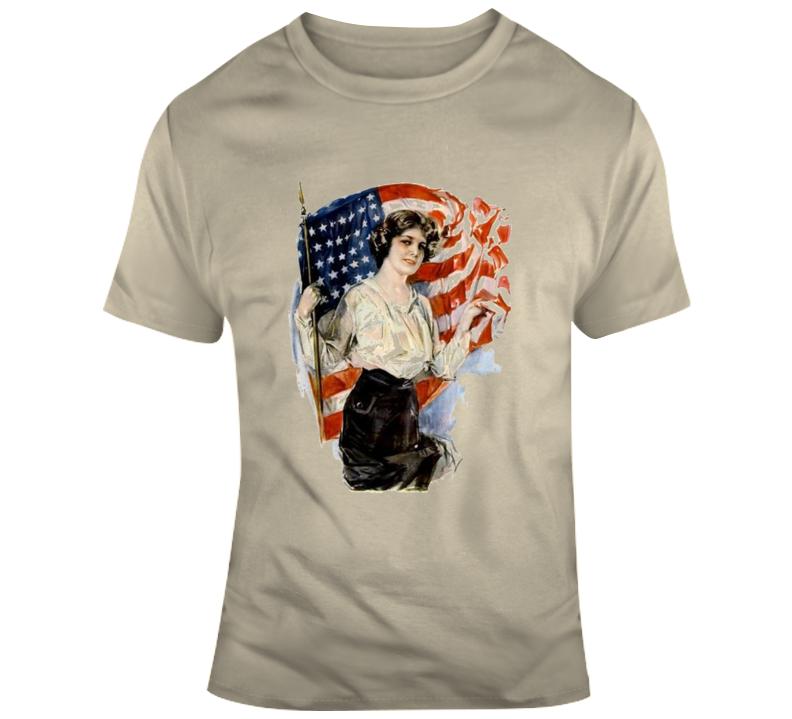 Lady Liberty Retro T Shirt