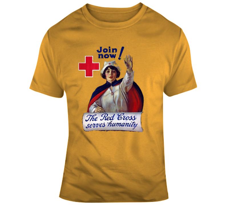 Red Cross Retro T Shirt